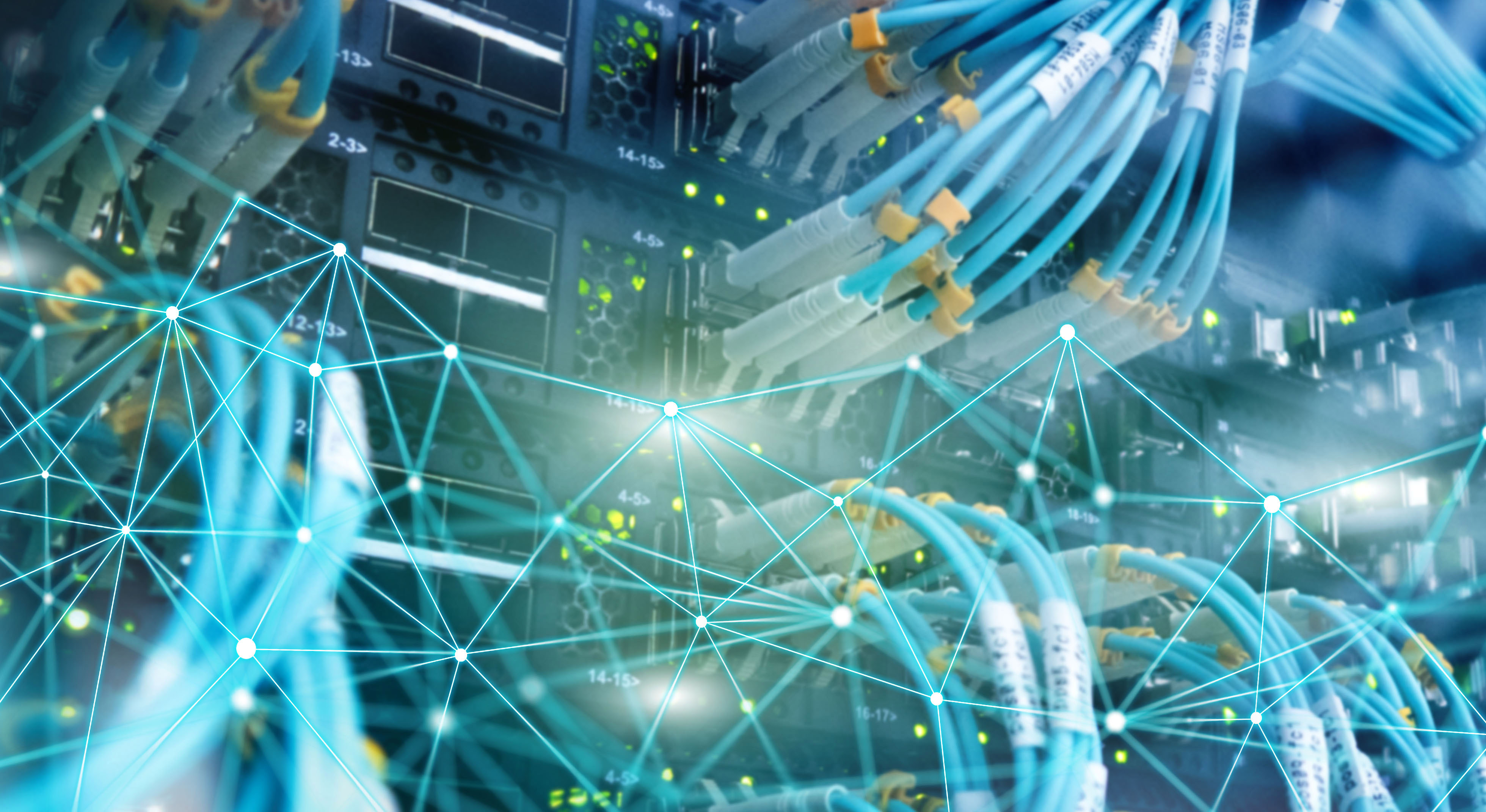 Telecommunication global network structure and networking concept on panoramic server background